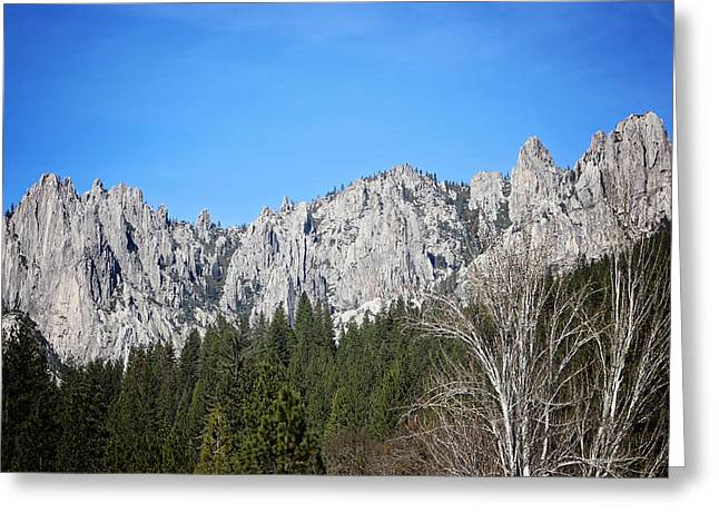 Castle Crags Greeting Card by Deana Glenz