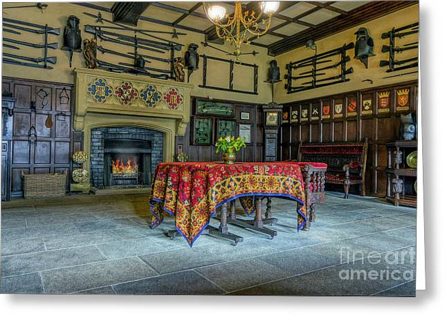 Greeting Card featuring the photograph Castle Dining Room by Ian Mitchell
