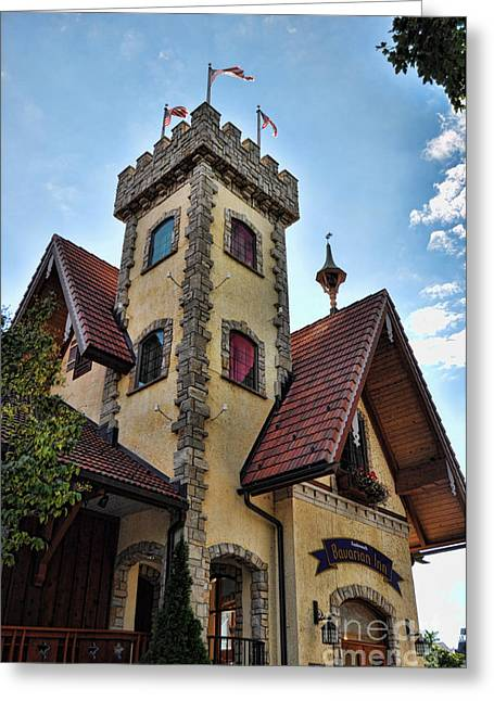 Castle Frankenmuth Greeting Card by Chris Fleming