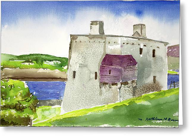 Castle From The Hill Greeting Card