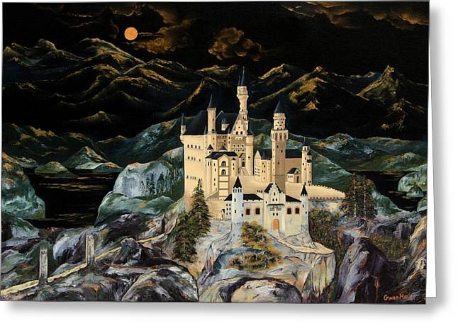 Castle Greeting Card by Gwen Rose