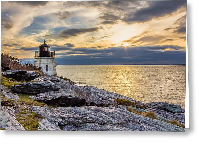 Castle Hill Light Hdr Greeting Card
