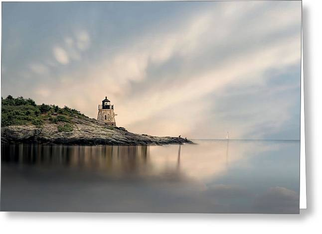 Castle Hill Light Greeting Card by Robin-Lee Vieira