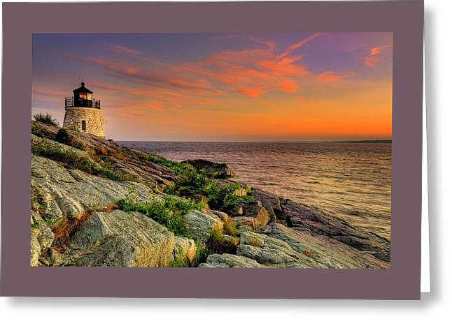 Castle Hill Lighthouse - Newport Rhode Island Greeting Card