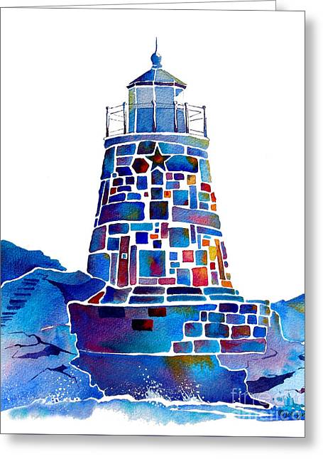 Castle Hill Newport Lighthouse Greeting Card