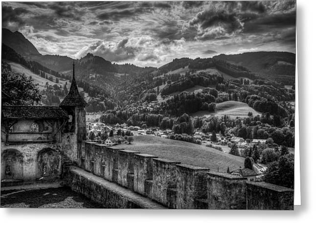 Castle II Hdr Greeting Card