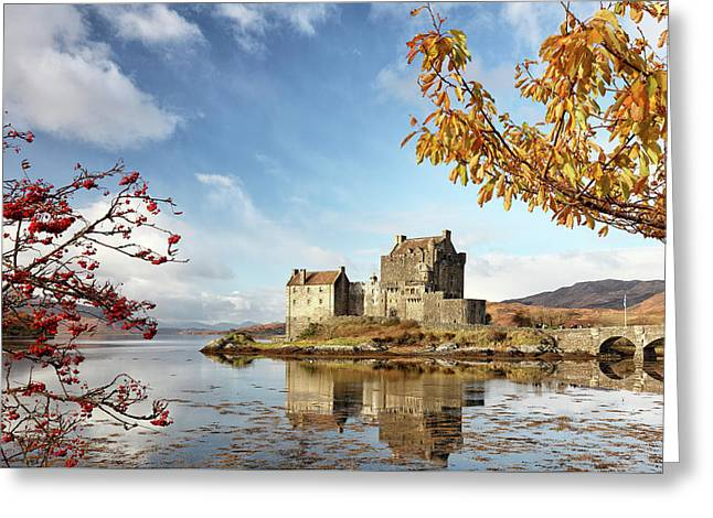 Greeting Card featuring the photograph Castle In Autumn by Grant Glendinning