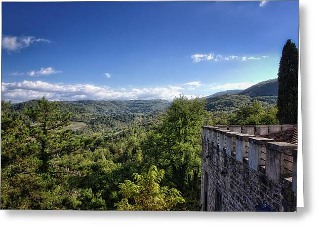 Castle In Chianti, Italy Greeting Card
