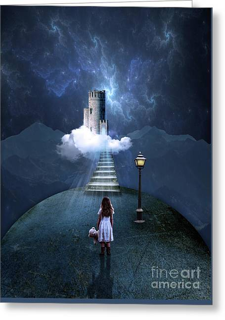 Castle In The Clouds Greeting Card