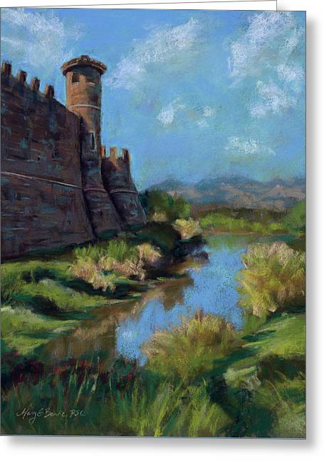 Castle In The Clouds Greeting Card by Mary Benke