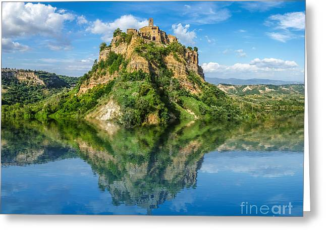Castle In The Lake Greeting Card