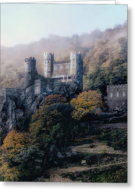 Greeting Card featuring the photograph Castle In The Mist by Jim Hill