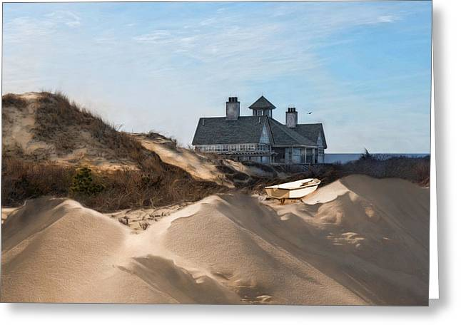 Castle In The Sand Greeting Card by Robin-Lee Vieira
