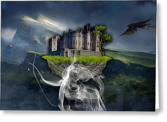 Castle In The Sky Art Greeting Card by Marvin Blaine