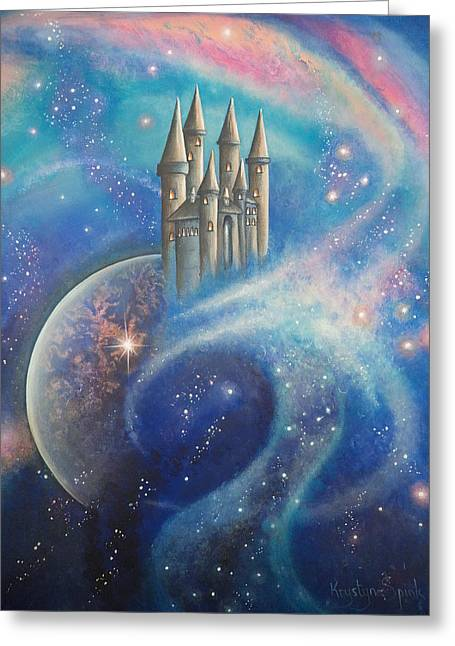 Castle In The Stars Greeting Card
