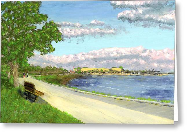 Castle Island - Summer Greeting Card