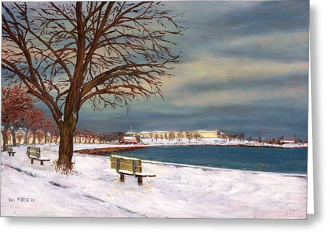 Castle Island - Winter Greeting Card