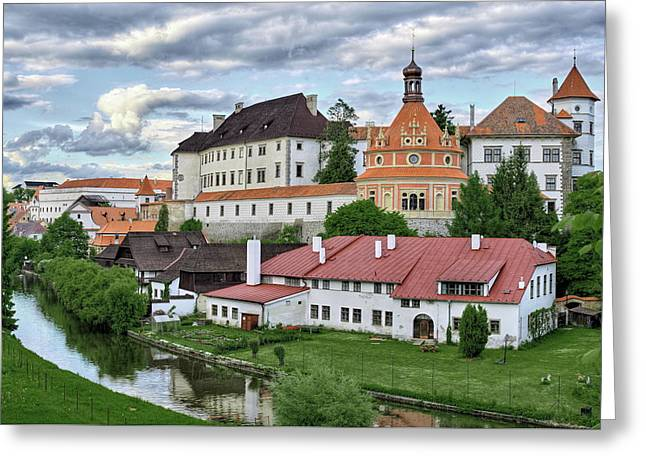 Castle Jindrichuv Hradec View From South West Bohemia Greeting Card by Rindi