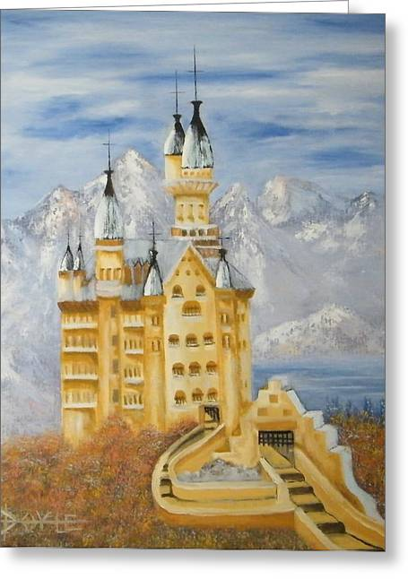 Castle Greeting Card by Larry Doyle