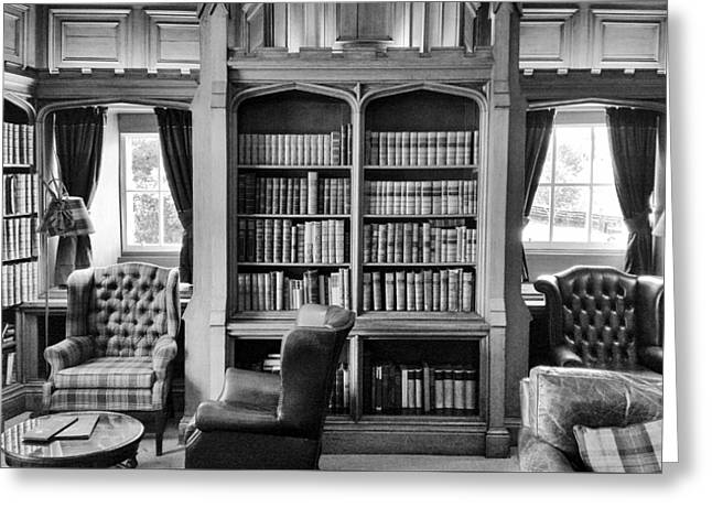 Castle Library Greeting Card by Christi Kraft