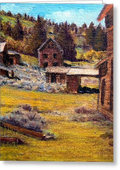 Castle Montana Ghosttown Greeting Card by Evelyne Boynton Grierson