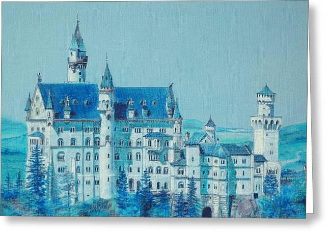 castle Neuswanstein Greeting Card by Radchenko Julia