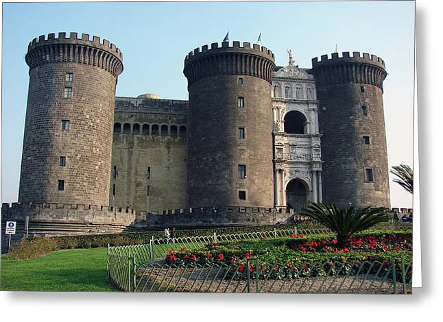 Castle Nuovo Naples Italy Greeting Card