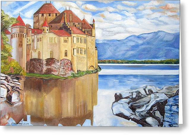 Castle Of Chillon Greeting Card by John Keaton