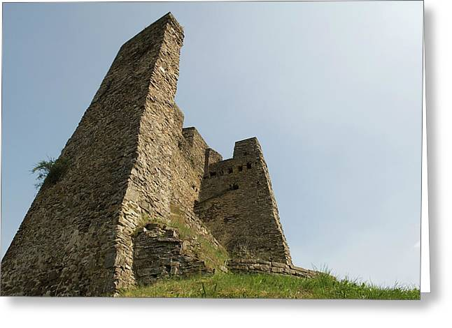 Greeting Card featuring the photograph Castle Of Dasburg Near The Ardennes  - Natioanlpark Eifel - Germany by Urft Valley Art