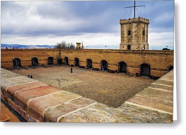 Castle Of Montjuic Barcelona Greeting Card