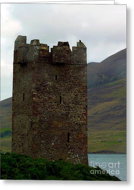 Castle Of The Pirate Queen Greeting Card by Patricia Griffin Brett