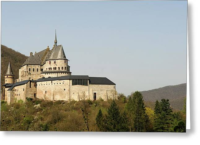 Greeting Card featuring the photograph Castle Of Vianden - Margarete Of Courtenay -  King Philip-augustus - King William Of Holland by Urft Valley Art