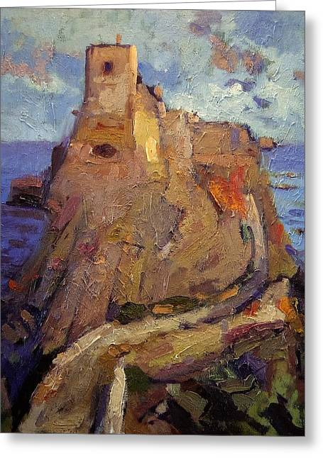 Castle On San Nicola Island Greeting Card