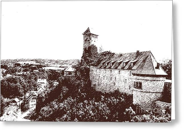 Greeting Card featuring the photograph Castle On The Hill by Ken Frischkorn
