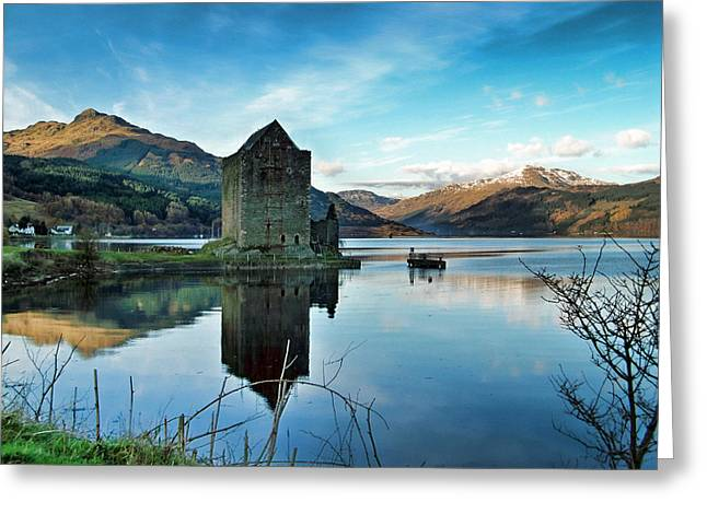 Castle On The Loch Greeting Card by Lynn Bolt