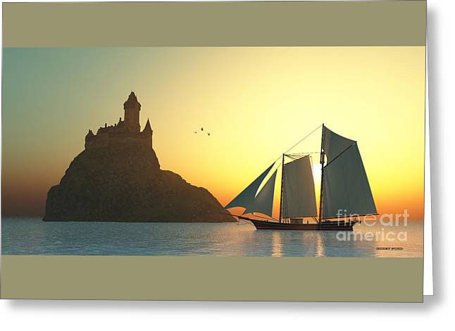 Castle On The Sea Greeting Card