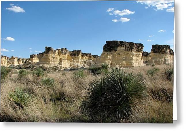 Castle Rock Badlands Greeting Card