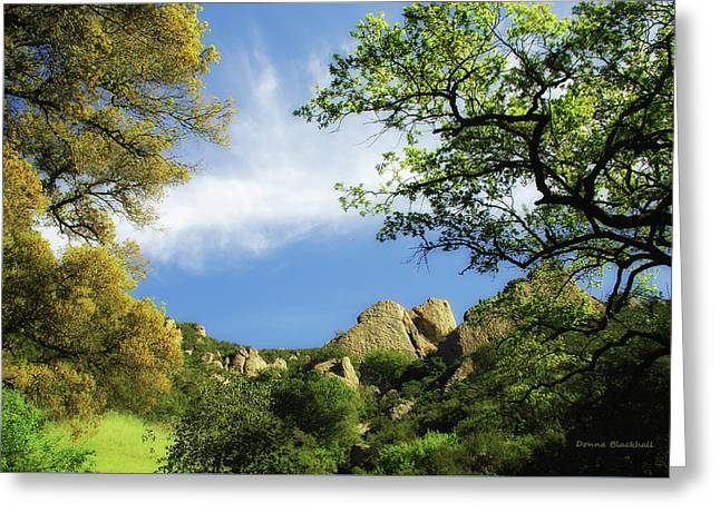Castle Rock Greeting Card by Donna Blackhall