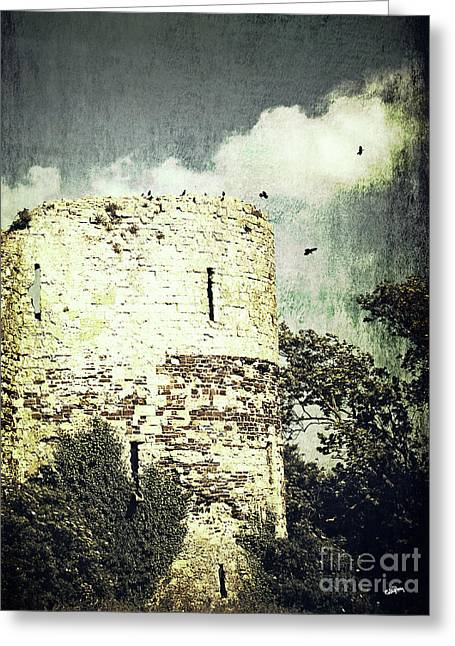 Castle Ruins Greeting Card by Callan Percy