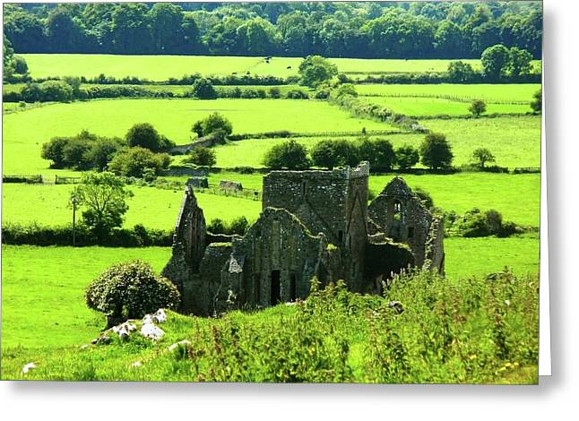 Castle Ruins Countryside Greeting Card
