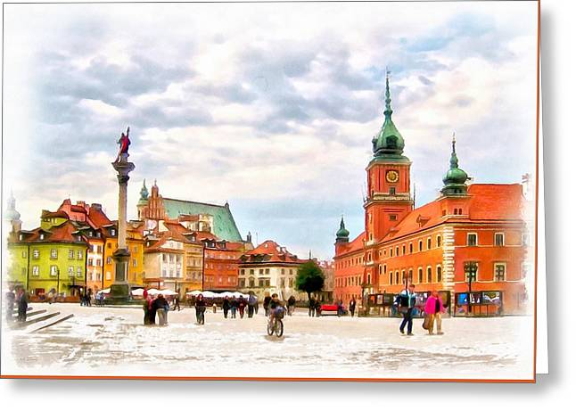 Castle Square, Warsaw Greeting Card