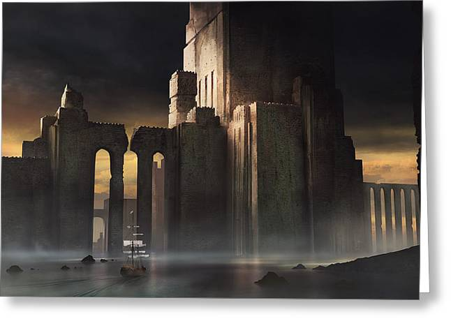 Castle Sunset Greeting Card by Jeff Brown