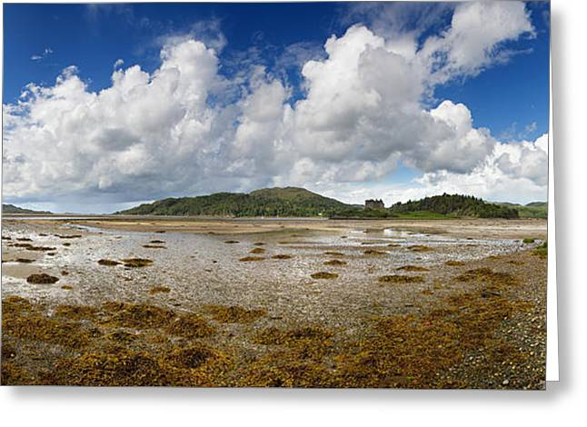 Castle Tioram Panorama Greeting Card by Jane Rix