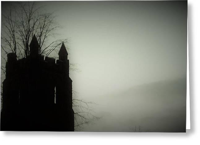 Castle Tower Greeting Card by Joyce Wasser