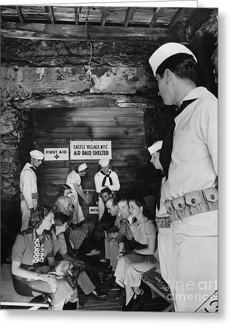 Castle Village Air Raid Shelter Greeting Card