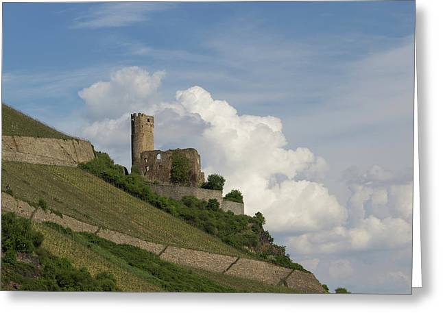 Castle With Clouds Greeting Card