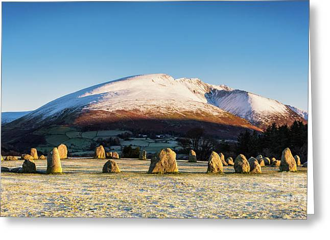 Castlerigg Stone Circle Greeting Card by Janet Burdon