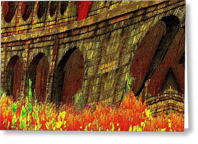 Castles Burning Greeting Card by Cliff Wilson