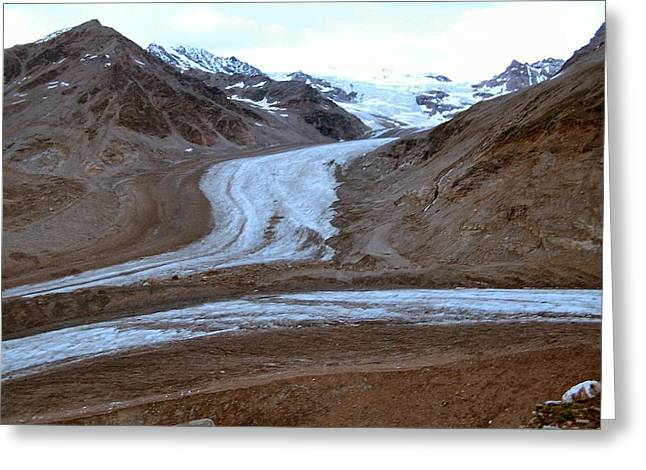 Castner Glacier Greeting Card by Adam Owen