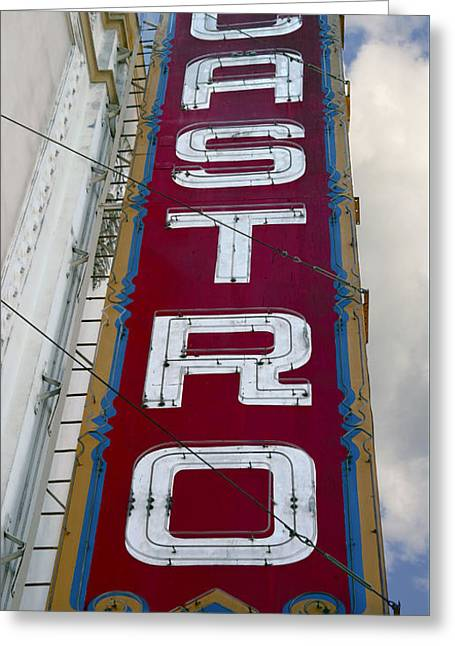 Castro District Sign - San Francisco Greeting Card by Daniel Hagerman